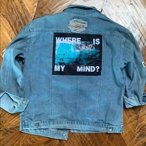 Super cute denim jacket with patches brand new